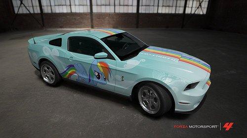 Rainbow dash car