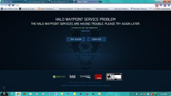 Halo Waypoint Fail
