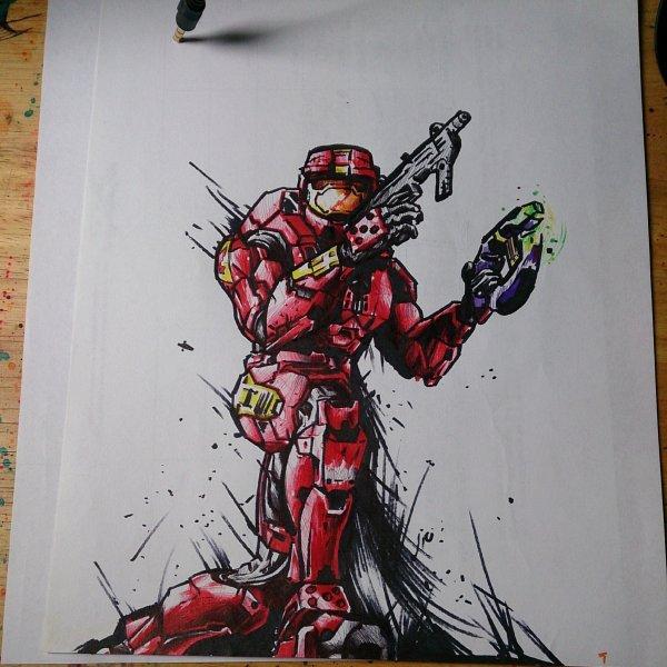 Halo 2 drawing ups