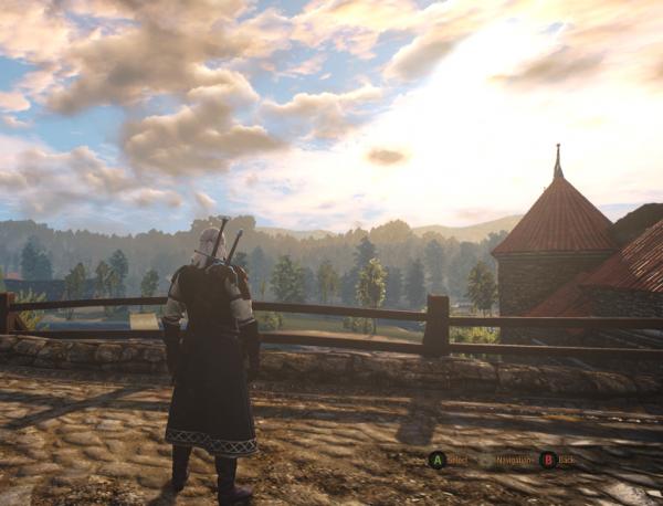 Geralt on the Novigrad Bridge